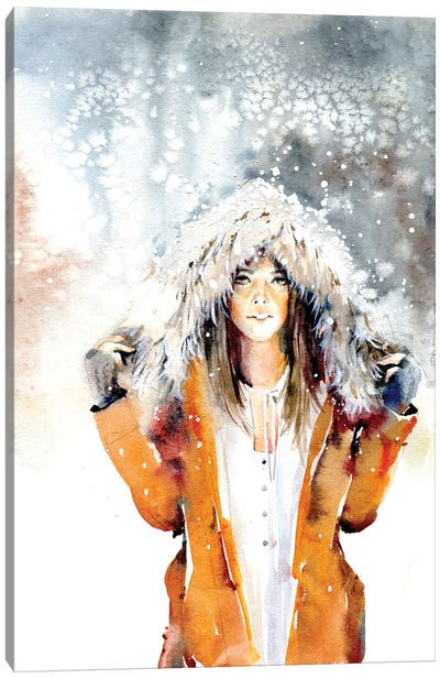 In The Snow Canvas Art Print