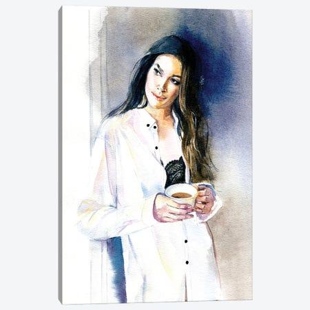 Morning Coffee Canvas Print #IGN102} by Marina Ignatova Art Print