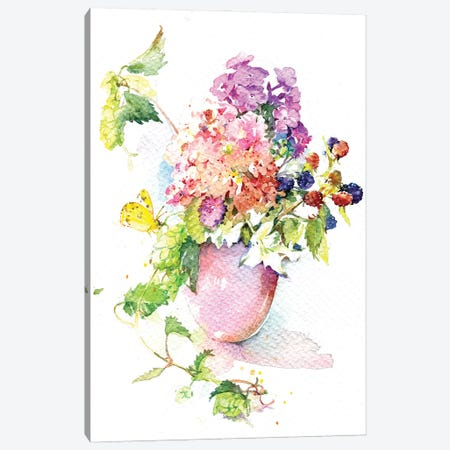 August Bouquet Canvas Print #IGN105} by Marina Ignatova Canvas Wall Art
