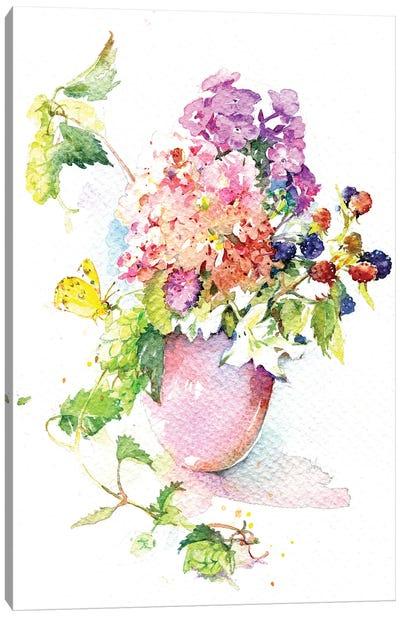 August Bouquet Canvas Art Print