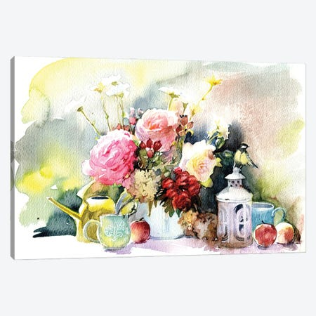 Garden Still Life Canvas Print #IGN107} by Marina Ignatova Canvas Artwork