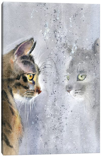 Cat By The Window II Canvas Art Print
