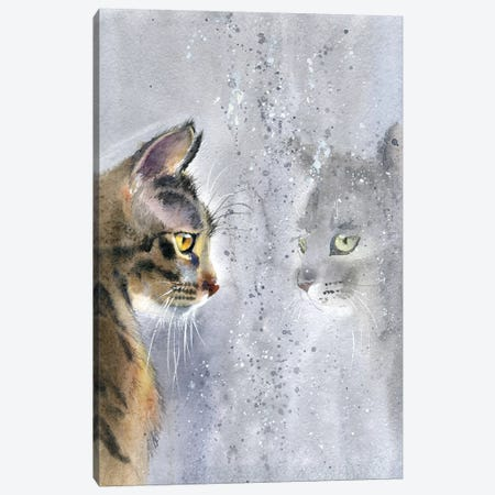 Cat By The Window II Canvas Print #IGN10} by Marina Ignatova Canvas Art