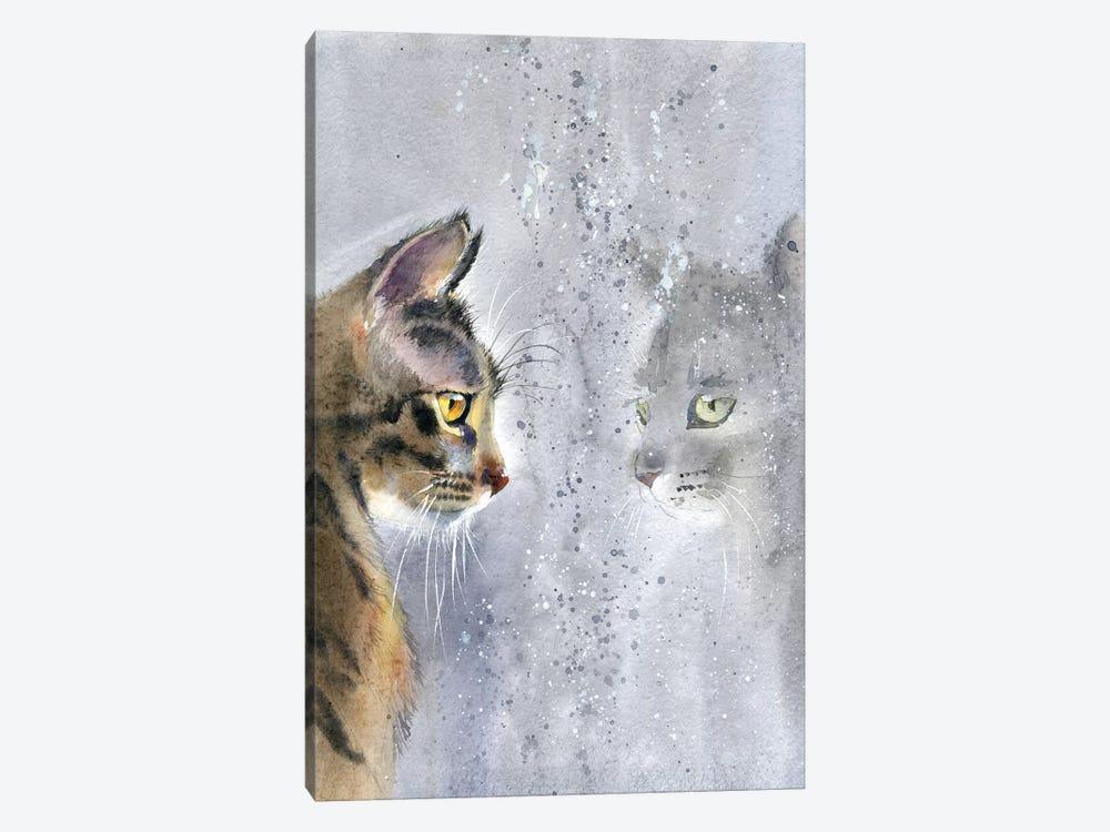Cat By The Window II by Marina Ignatova 1-piece Canvas Print