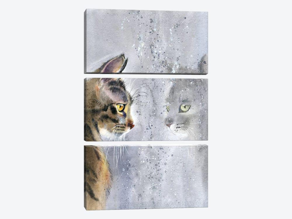 Cat By The Window II by Marina Ignatova 3-piece Canvas Art Print