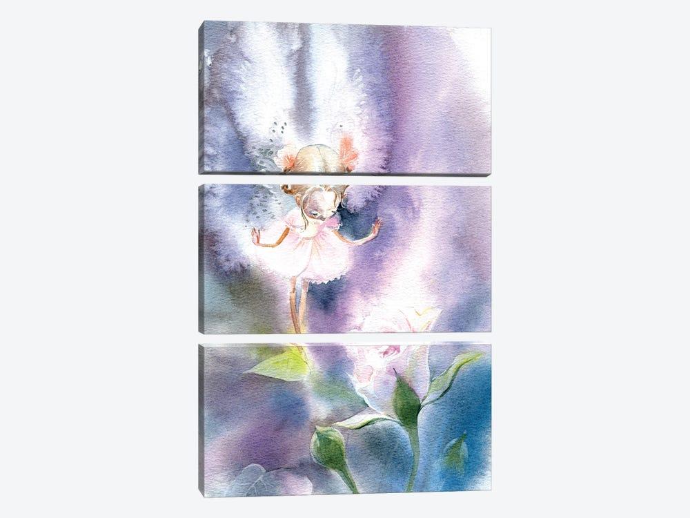 Fairy Rose by Marina Ignatova 3-piece Canvas Art Print