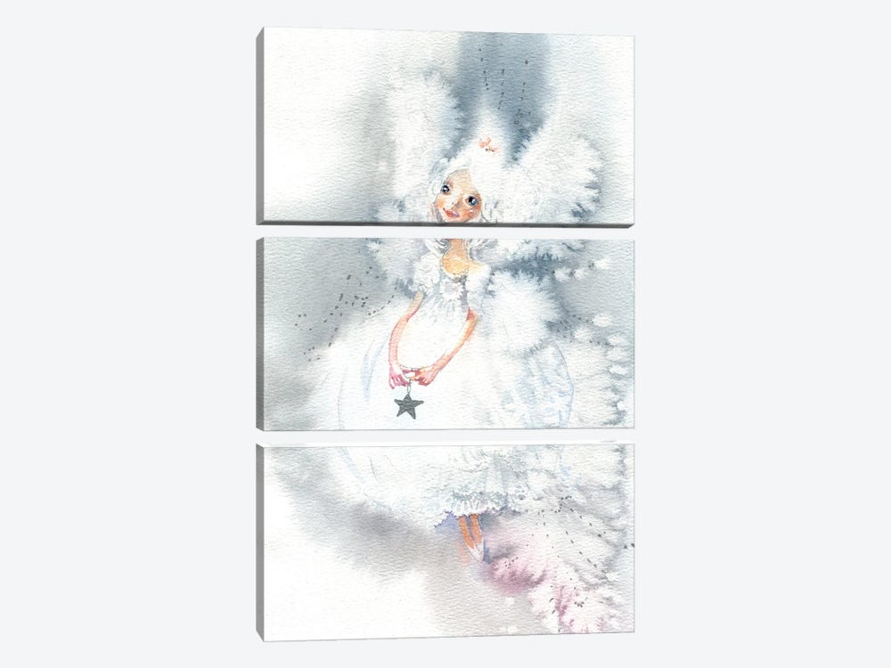 Snow Fairy by Marina Ignatova 3-piece Canvas Artwork