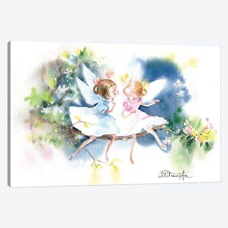 Fairies Of Good News Canvas Print #IGN113} by Marina Ignatova Canvas Artwork