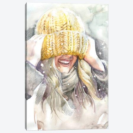 Knitted Hat Canvas Print #IGN118} by Marina Ignatova Canvas Artwork