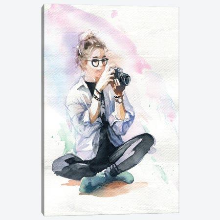 Beginning Photographer Canvas Print #IGN134} by Marina Ignatova Canvas Art Print
