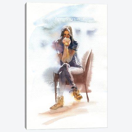 Hot Coffee Canvas Print #IGN139} by Marina Ignatova Canvas Artwork
