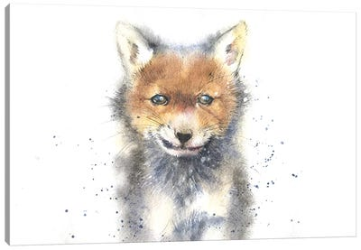 Fox Cub Canvas Art Print