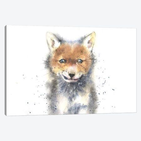 Fox Cub Canvas Print #IGN18} by Marina Ignatova Canvas Wall Art