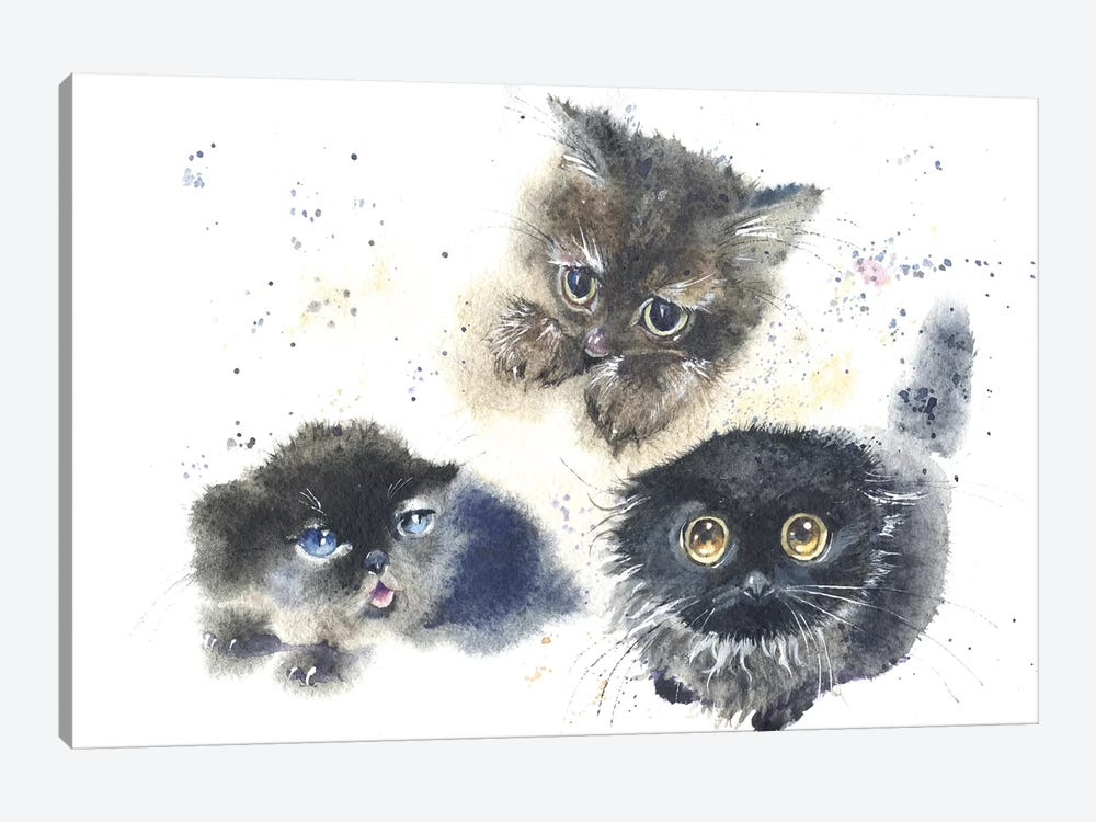 Kittens by Marina Ignatova 1-piece Art Print