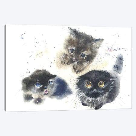 Kittens Canvas Print #IGN21} by Marina Ignatova Canvas Print