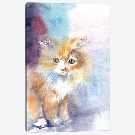 Kitty In The Light Canvas Print #IGN23} by Marina Ignatova Canvas Print