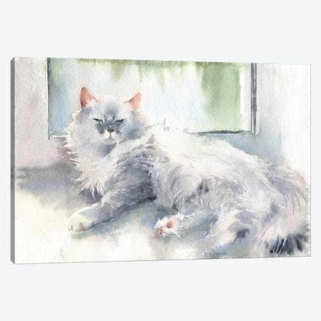 Liza The Cat Canvas Print #IGN24} by Marina Ignatova Canvas Artwork