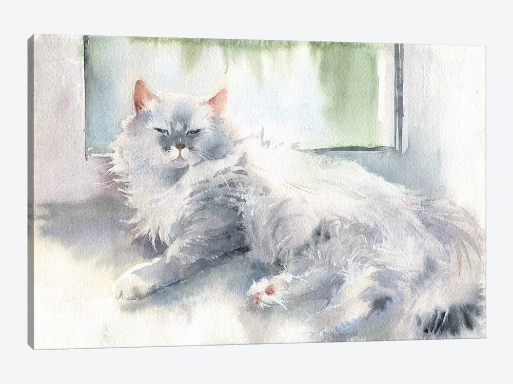Liza The Cat by Marina Ignatova 1-piece Canvas Art