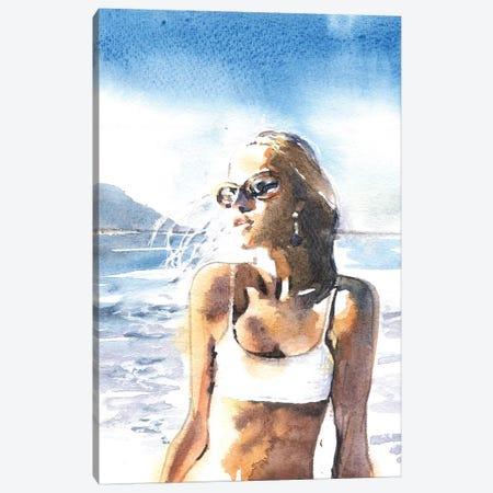 On A Beach Canvas Print #IGN25} by Marina Ignatova Canvas Wall Art
