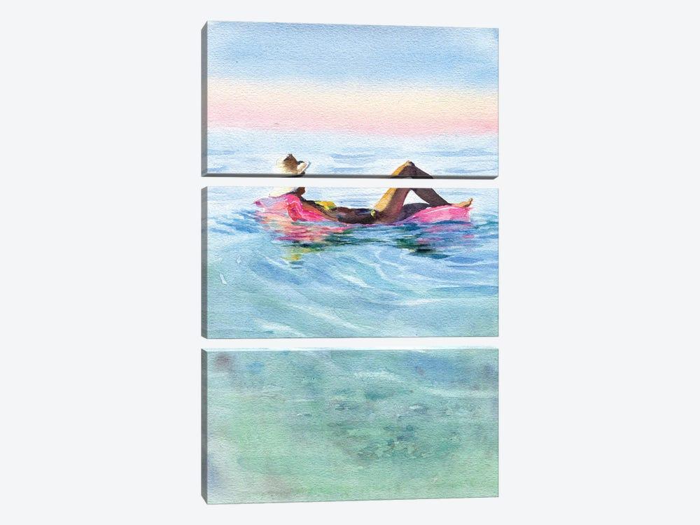 On A Mattress II by Marina Ignatova 3-piece Canvas Art