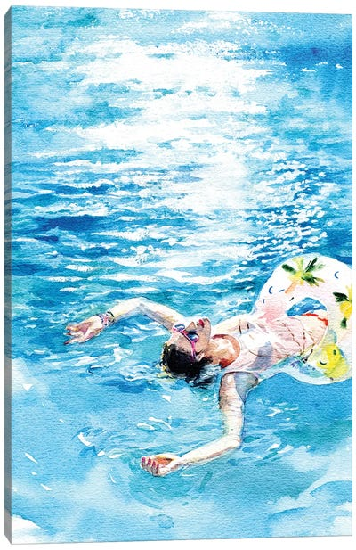 On The Water Canvas Art Print