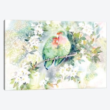 Parrots Canvas Print #IGN28} by Marina Ignatova Canvas Art Print