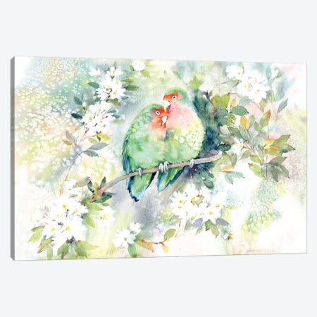 Parrots Canvas Print #IGN28} by Marina Ignatova Canvas Art Print