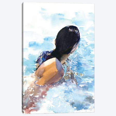 Swimmer Canvas Print #IGN35} by Marina Ignatova Canvas Print