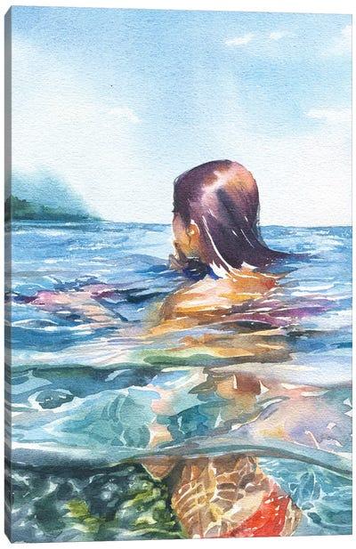 Swimming Canvas Art Print