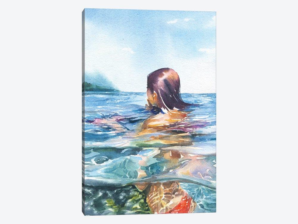 Swimming by Marina Ignatova 1-piece Canvas Art Print