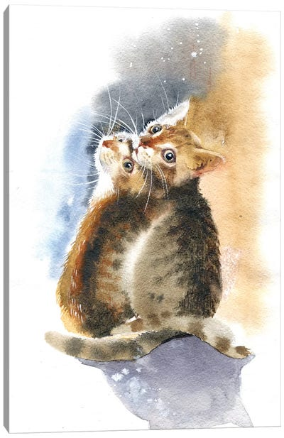Two Kittens Canvas Art Print