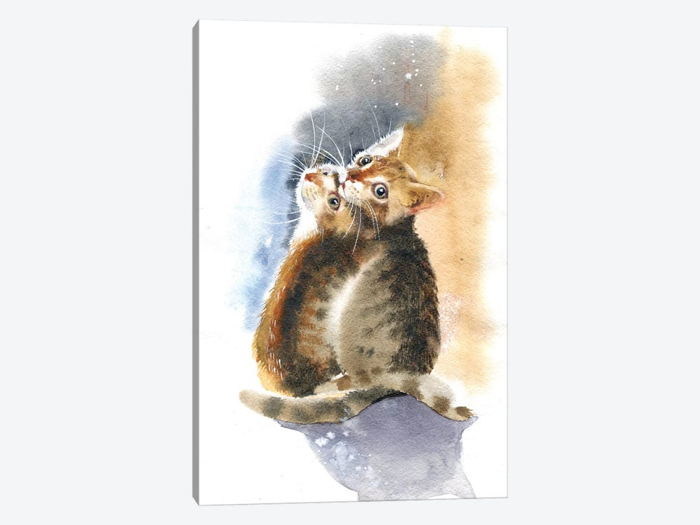Two Kittens by Marina Ignatova 1-piece Canvas Wall Art
