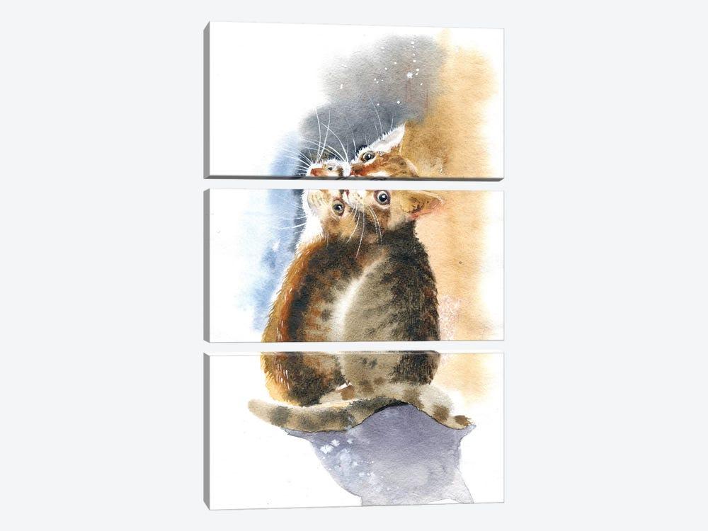Two Kittens by Marina Ignatova 3-piece Canvas Wall Art