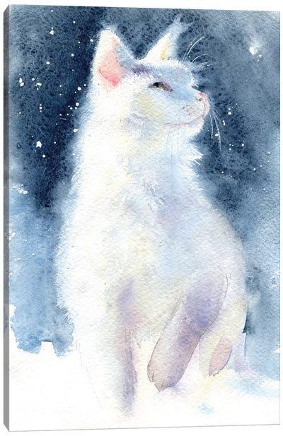 White Kitten II Canvas Art Print
