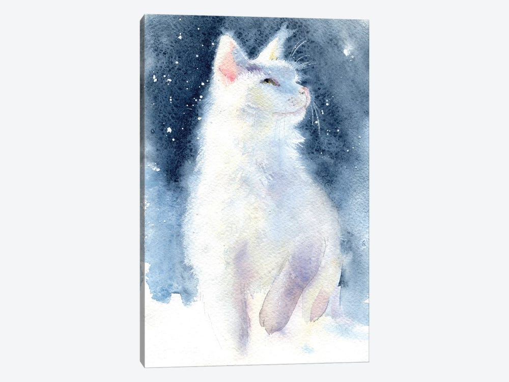 White Kitten II by Marina Ignatova 1-piece Canvas Artwork