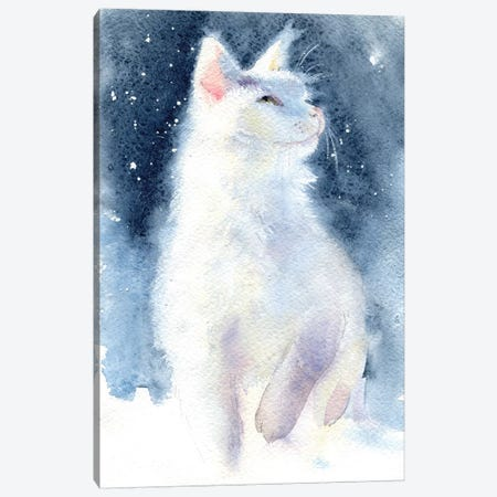 White Kitten II Canvas Print #IGN39} by Marina Ignatova Canvas Art