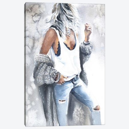 Woman IV Canvas Print #IGN41} by Marina Ignatova Art Print