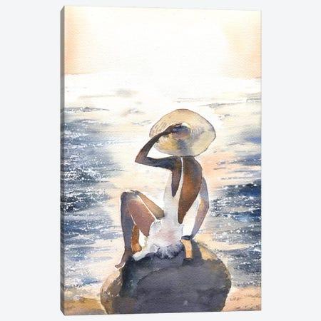 Woman On A Rock Canvas Print #IGN42} by Marina Ignatova Art Print