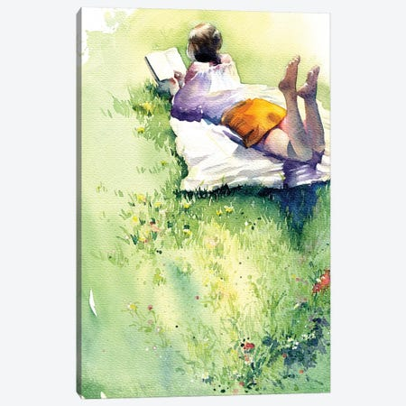Summer Afternoon Canvas Print #IGN46} by Marina Ignatova Canvas Wall Art