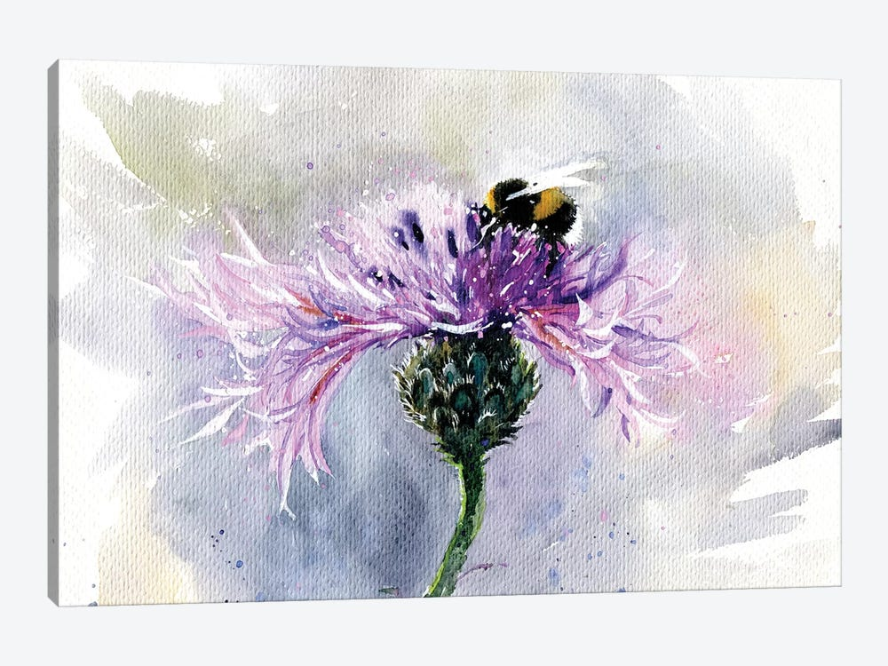 Bumblebee On A Flower by Marina Ignatova 1-piece Art Print