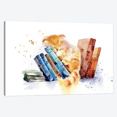 Sleeping Cat Canvas Print #IGN57} by Marina Ignatova Canvas Print