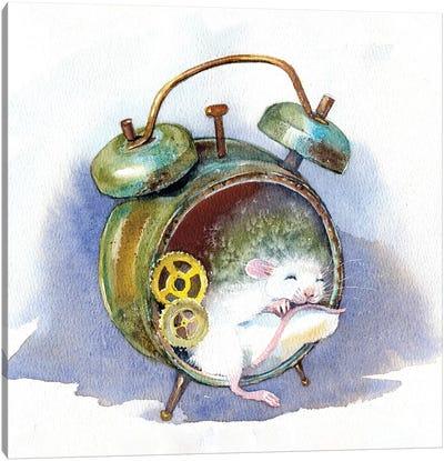 White Mouse Canvas Art Print