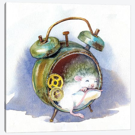 White Mouse Canvas Print #IGN58} by Marina Ignatova Canvas Artwork