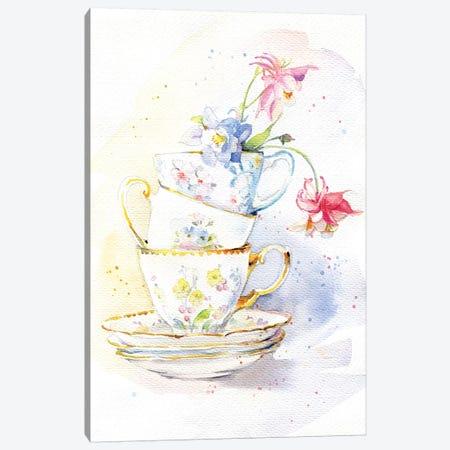 Tea Ware Canvas Print #IGN59} by Marina Ignatova Canvas Artwork