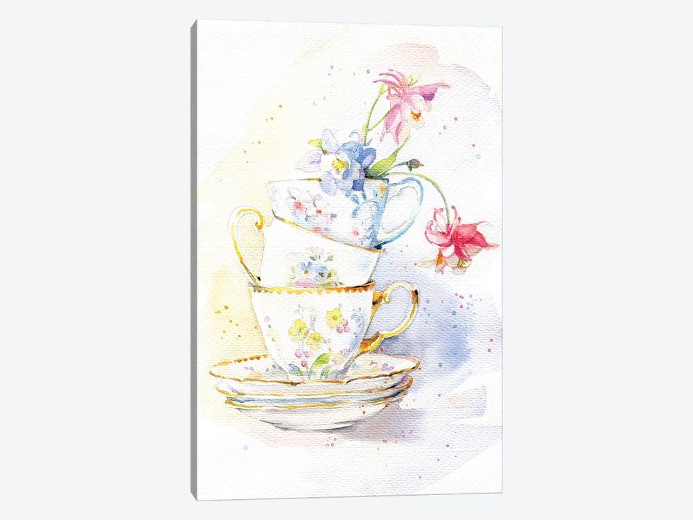 Tea Ware by Marina Ignatova 1-piece Canvas Artwork