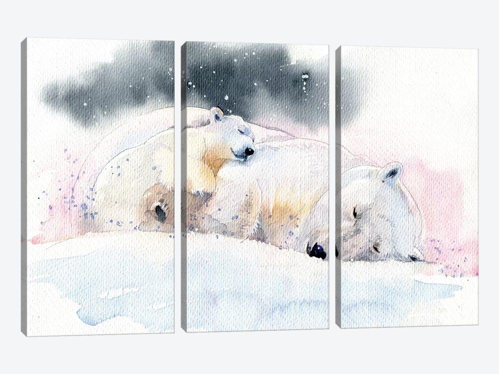 Sleeping Bears by Marina Ignatova 3-piece Canvas Art