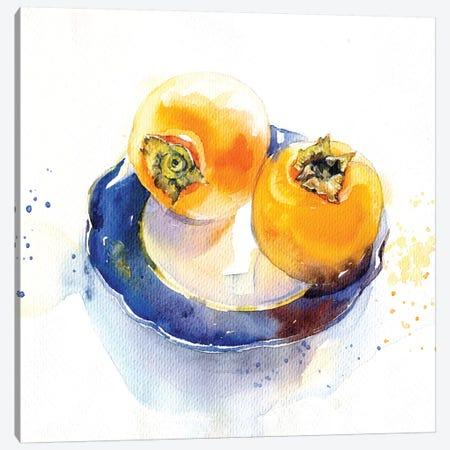 Orange On Blue Canvas Print #IGN64} by Marina Ignatova Canvas Artwork
