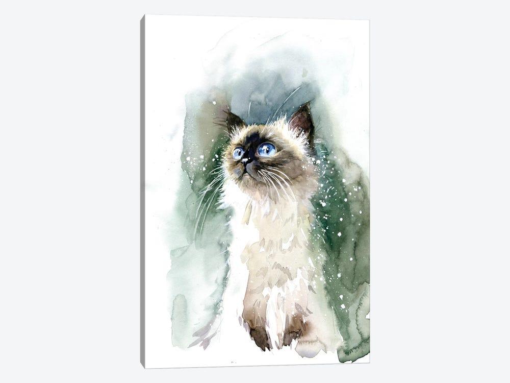 Kitten With Blue Eyes by Marina Ignatova 1-piece Canvas Print