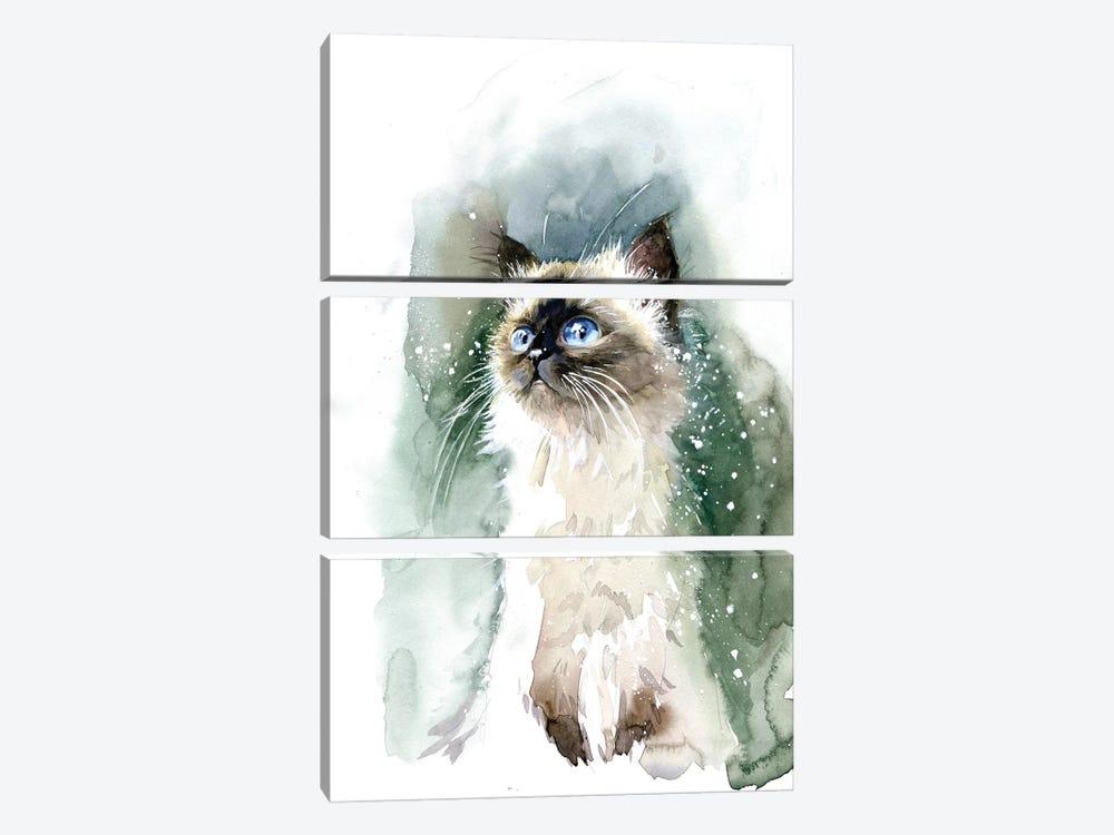 Kitten With Blue Eyes by Marina Ignatova 3-piece Art Print