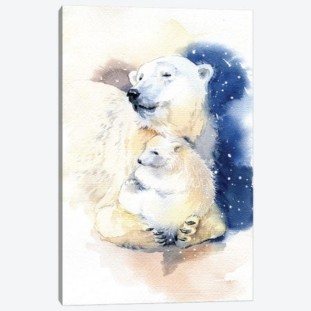 Bears Canvas Print #IGN66} by Marina Ignatova Canvas Art
